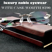 CLARAVIDA LUXURY PACK CHIEF EXECUTIVE OFFICER'S BUSINESS RIMLESS FRAMELESS READING GLASSES+PU BOX +1 +1.5 +2 +2.5 +3 +3.5 +4