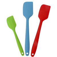 Evelots® 3 Silicone Spatula Set, Heat Resistant Cooking Utensils, Multicolor