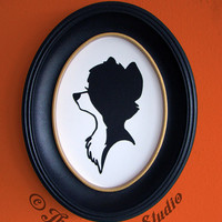 Tod from The Fox and the Hound Hand-Cut Paper Silhouette Portrait