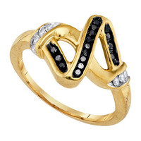 Diamond Fashion Ring in Gold-plated silver 0.21 ctw