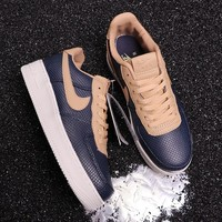 HCXX N295 Nike Air Force 1 Upstep AF1 snake stripe low side casual sports shoes