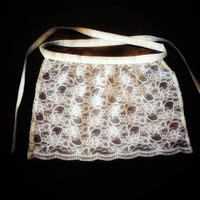 White lace apron, Sexy Lace Apron, New Home gift apron, Wedding Apron, Anniversary Gift for Girlfriend, Bridal Shower Gift for new Bride