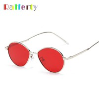 Ralferty Oval Sunglasses Women Men Gothic Sun Glasses For Women Vintage Red Sunglases Steampunk Goggles Eyewear Accessory X8707