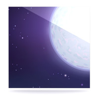 "Fotios Pavlopoulos ""Full Moon"" Night Sky Luxe Square Panel"