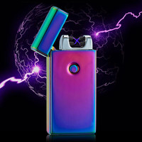 Dual Arc Electric USB Lighter Rechargeable Plasma Flameless Cigarette Fashion Isqueiro Encendedor