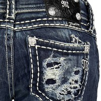 Miss Me Blowout Pocket Boot Stretch Jean