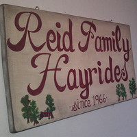 Rustic Hand Painted Wooden Outdoor Farm Sign by RusticCharmDesign