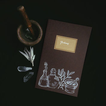 potions notebook • witch journal - art notebook - book of shadows - pagan notebook - potion label journal - witchcraft