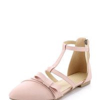 Bow Solid Design Fashion Flats For Women