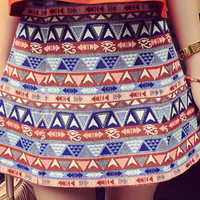 Multicolor Tribal Printed Skirt