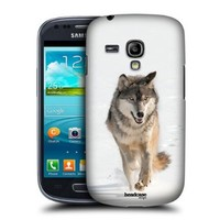 Head Case Designs Grey Wolf Running Wildlife Protective Snap-on Hard Back Case Cover for Samsung Galaxy S3 III mini I8190
