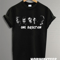 One Direction Shirt The Band Symbol Printed on Black  t-Shirt For Men or Women Size X 09