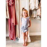 Children's Sleeveless Tie-dye Romper
