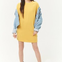 French Terry Raglan Mini Dress