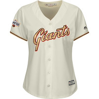 San Francisco Giants Women's GOLD Cool Base® Jersey with 2014 World Series Champions Patch - MLB.com Shop