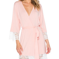 Lace Trime Robe in Blush