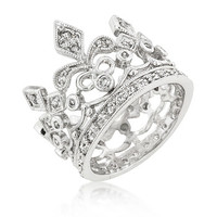 Sparkling Crown Eternity Ring