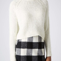 Knitted Fluffy Crop Jumper