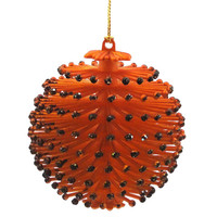 Halloween HALLOWEEN SPINY ORNAMENT ORANGE Plastic NT0064 ORANGE