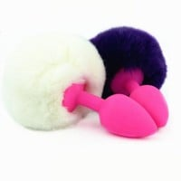 Silicone Rabbit Tail Butt Plug