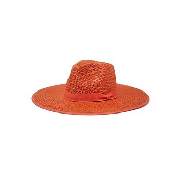 SAIL AWAY - Straw Panama Hat (Burnt Orange)