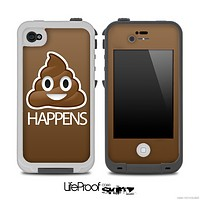 Brown Crap Happens Skin for the iPhone 5 or 4/4s LifeProof Case
