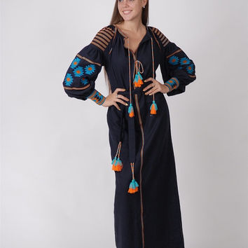 Sale, Vita, Kin, Style, Boho, Style, Embroidered, Folk, Women's ,Dress, Bohemian, Style, Vyshyvanka, Folk ,Sizes - XS-4XL.