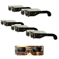 5 Pack Solar Eclipse Glasses | ISO & CE Certified Safe Solar Eclipse Shades | Viewer and Filters | Protection For All Ages