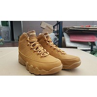 Bes DealNike Air Jordan Retro 9 Wheat Men Sneakers Fashion Basketball Sports Shoes