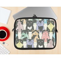 The Vintage Cat portrait Ink-Fuzed NeoPrene MacBook Laptop Sleeve