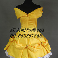 New Beauty and the Beast costume women adult princess Belle  cosplay halloween costumes for women Fancy dress fantasy custom