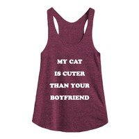 Tri Cranberry Tank | Cat Lady Shirts