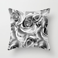 Floating Roses Throw Pillow Cover