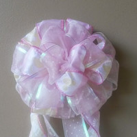 Pink Baby Shower Bow Birth Announcement Hospital Door Gift Decoration
