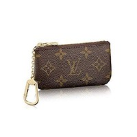 Louis Vuitton LV Monogram women's fashion canvas key bag F