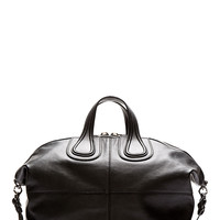 Givenchy Black Leather Nightingale Tote Bag