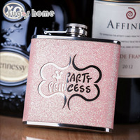 fashion Flask 6 oz Food Grade Stainless Steel Hip Flask drinkware Alcohol Liquor Whiskey Bottle gifts wine pot