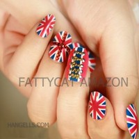 LOVELY COLOR FLAG FASHION JAPANESE 3D NAIL ART 24 nails Sold By FATTYCAT
