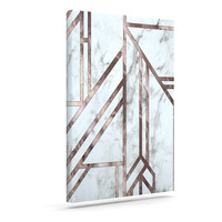 "KESS Original ""Dark Marble Mosaic"" Digital Geometric Canvas Art"