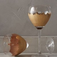 Imperial Caviar Red Wine Glasses by Anthropologie in Gold Size: S/2 Red Wine Glassware