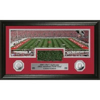 Ohio State Stadium Authentic Turf Silver Coin Pano Photo Mint