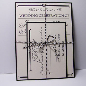 Vintage Rustic Wedding Invitation Suite