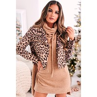 Call You Out Leopard Moto Jacket (Taupe)