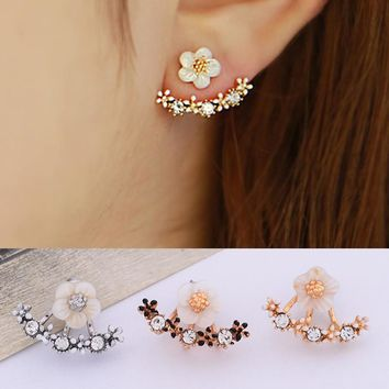 Korean Diamonds Floral Earrings [10794399559]