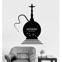 Vinyl Wall Decal Hookah Shisha Bar Smoking Cafe Lounge Stickers Mural Unique Gift (ig3612)