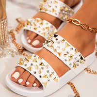 Hot sale sexy fashion nail sandals and slippers
