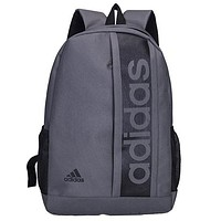 ADIDAS tide brand men and women fitness bag travel leisure backpack grey