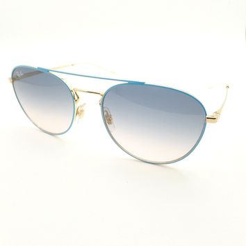 Ray Ban 3589 9057/19 Blue Gold Blue Grey Pink Fade 55mm Sunglasses New Authentic