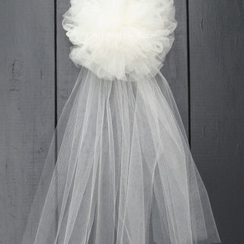 Tulle Wedding Pew Bow Many Colors Available