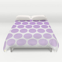 Bed Cover - Purple Polka Dots - Duvet Cover Only - Bed  Spread - Bedroom Decor - Made to Order